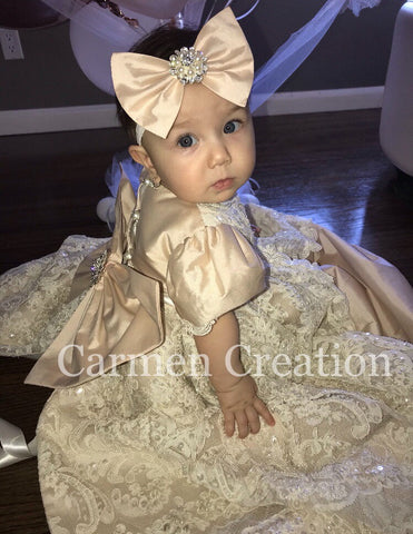 Blush Pink Bow Headband