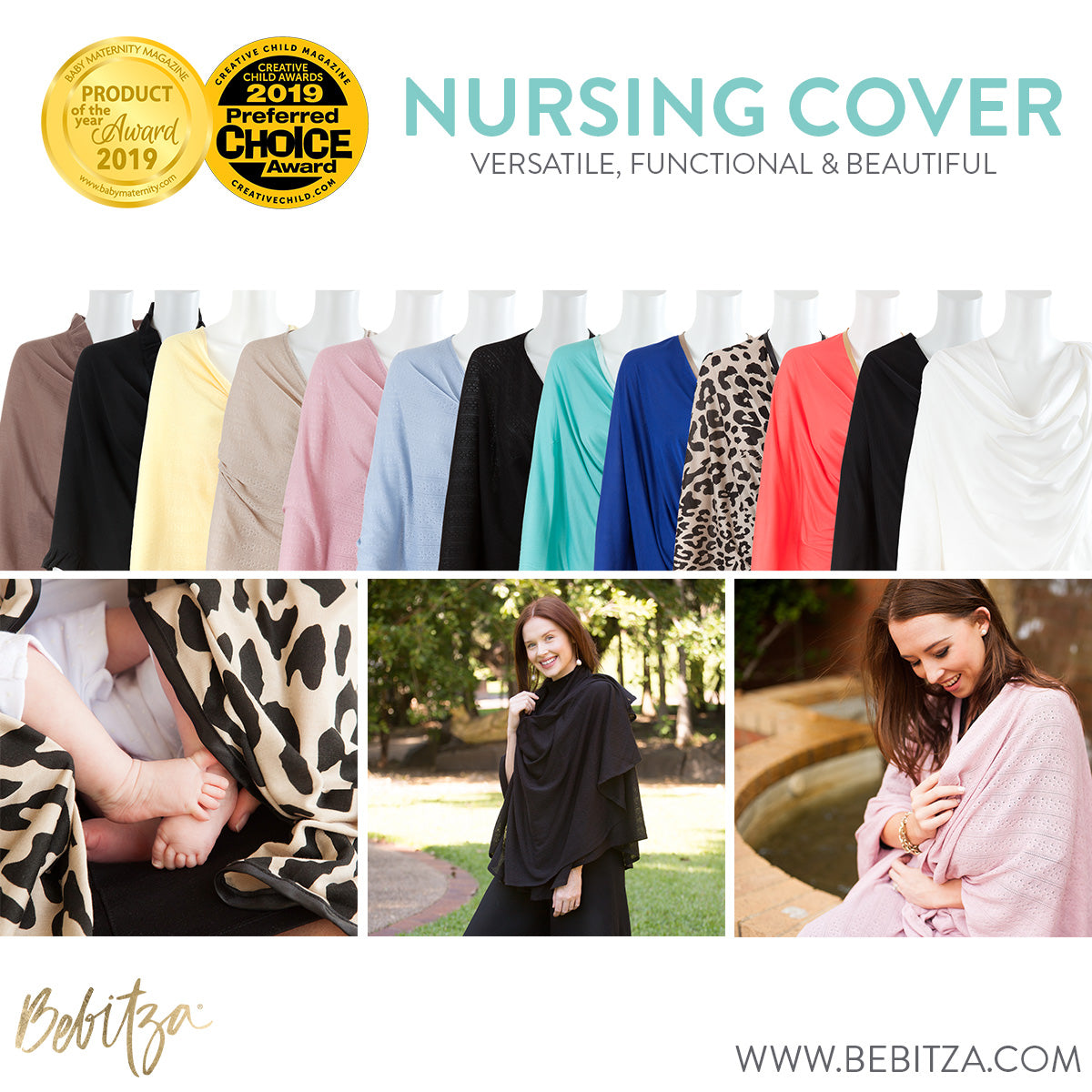 Bebitza's versatile, functional and beautiful range of Nursing Covers have won two awards.
