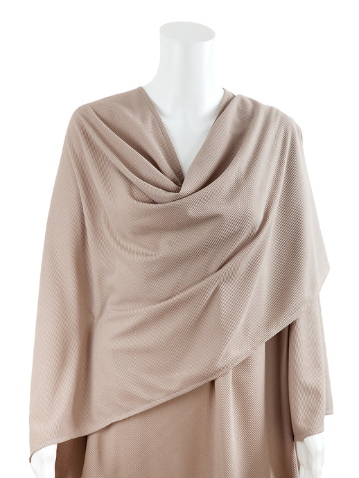 Antibacterial UV Waffle Breastfeeding Blanket - Taupe