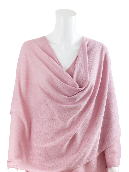Textured Knit Nursing Cover - Pink