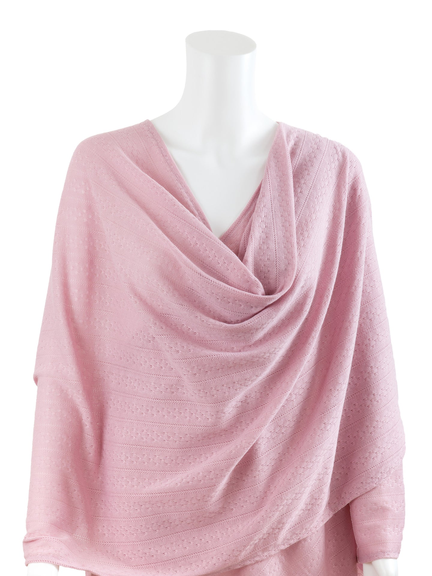 Nursing Cover - Textured Knit - Pink