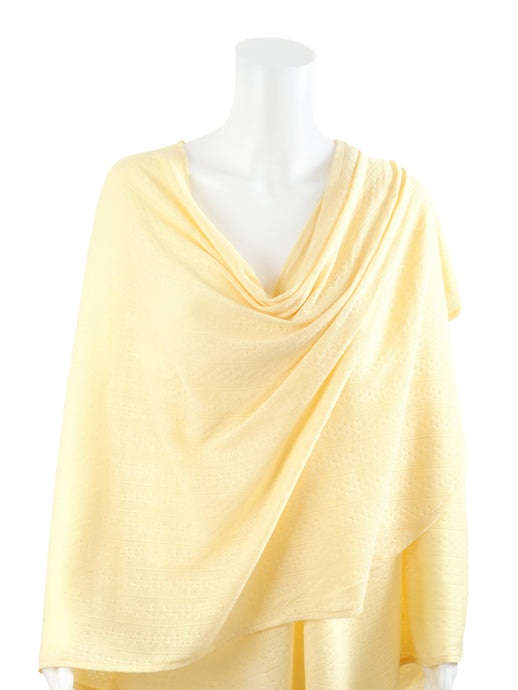 Textured Knit Nursing Cover - Yellow
