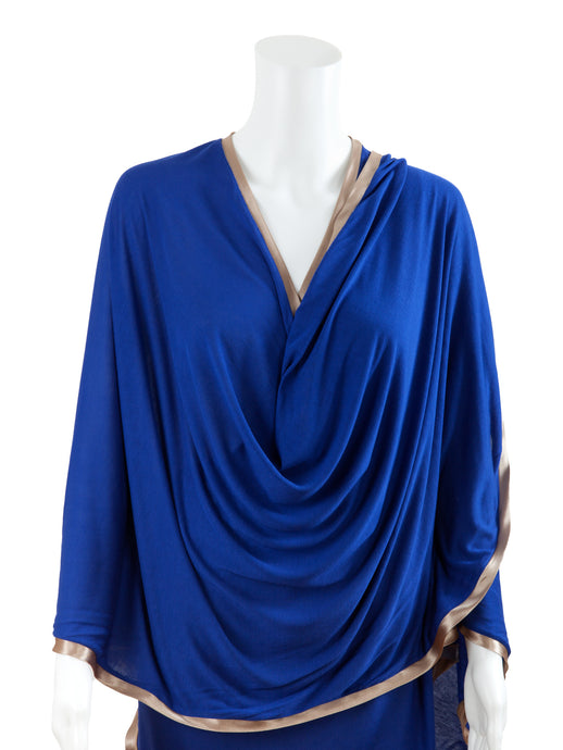 Nursing Cover - Modal - Cobalt Blue