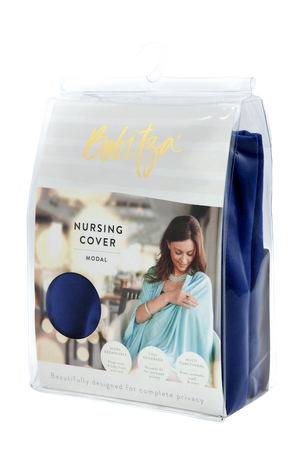 Cobalt blue Modal Nursing Cover