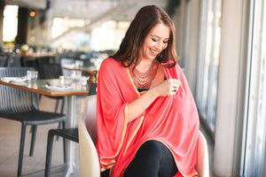 Nursing Cover - Modal - Watermelon