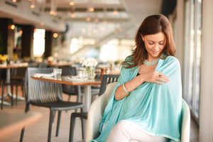 Teal Modal Nursing Cover