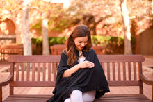 Load image into Gallery viewer, Black Cotton Nursing Cover