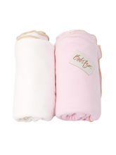 Load image into Gallery viewer, Baby Wrap - Antibacterial Bamboo - Double Pack - Cream/Pink