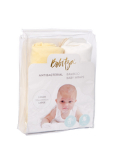 Load image into Gallery viewer, Baby Wrap - Antibacterial Bamboo - Double Pack - Cream/Yellow