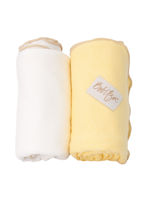 Baby Wrap - Antibacterial Bamboo - Double Pack - Cream/Yellow