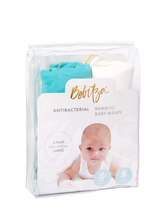 Load image into Gallery viewer, Baby Wrap - Antibacterial Bamboo - Double Pack - Cream/Green