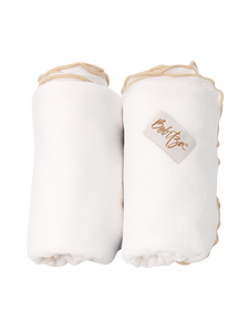 Baby Wrap - Antibacterial Bamboo - Double Pack - Cream