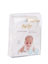 Load image into Gallery viewer, Baby Wrap - Antibacterial Bamboo - Double Pack - Cream/Feather