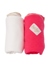 Load image into Gallery viewer, Baby Wrap - Antibacterial Bamboo - Double Pack - Cream/Dark Pink