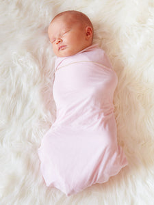 Baby Wrap - Antibacterial Bamboo - Double Pack - Cream/Pink
