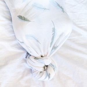 Baby Wrap - Antibacterial Bamboo - Double Pack - Cream/Feather