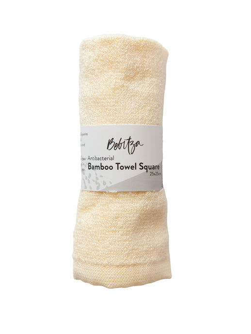 Face Washers - Antibacterial Bamboo Towel Square - Yellow