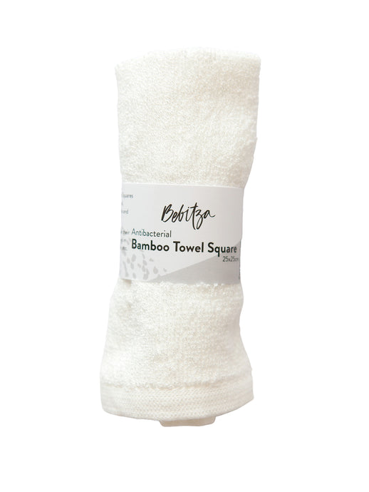 Face Washers - Antibacterial Bamboo Towel Square - White