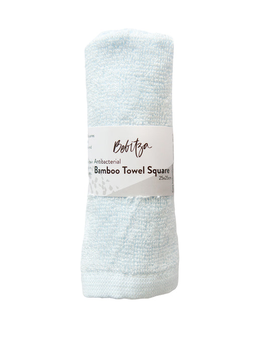 Face Washers - Towel Square - Antibacterial Bamboo - Blue