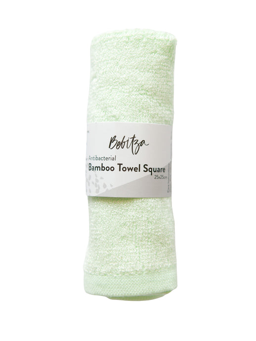 Face Washers - Antibacterial Bamboo Towel Square - Green