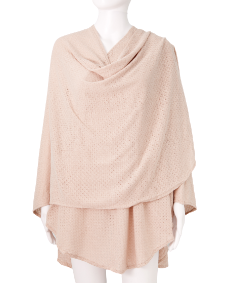 Nursing Cover - Textured Knit - Taupe