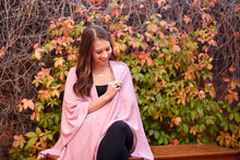 Load image into Gallery viewer, Pink Textured Knit Nursing Cover