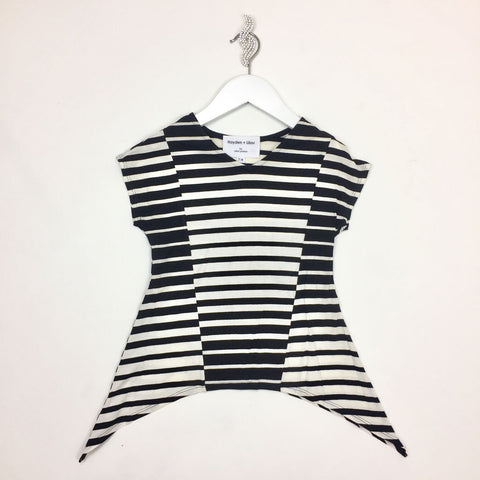 Engineered Stripe Top With Side Tails for Girls