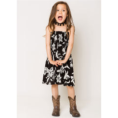 Floral Smock Dress For Girls