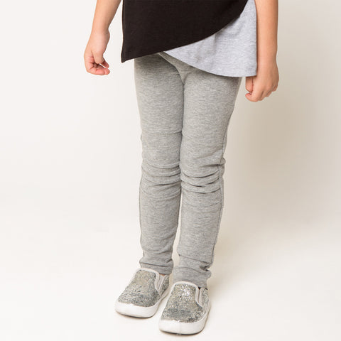Pin-tucked French Terry Leggings for Girls