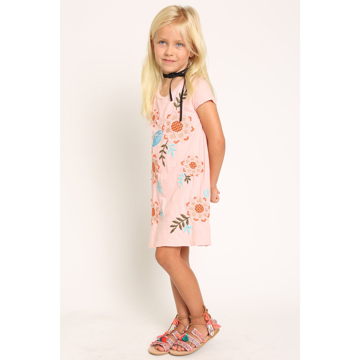 Embroidered T-Shirt Dress for Girls