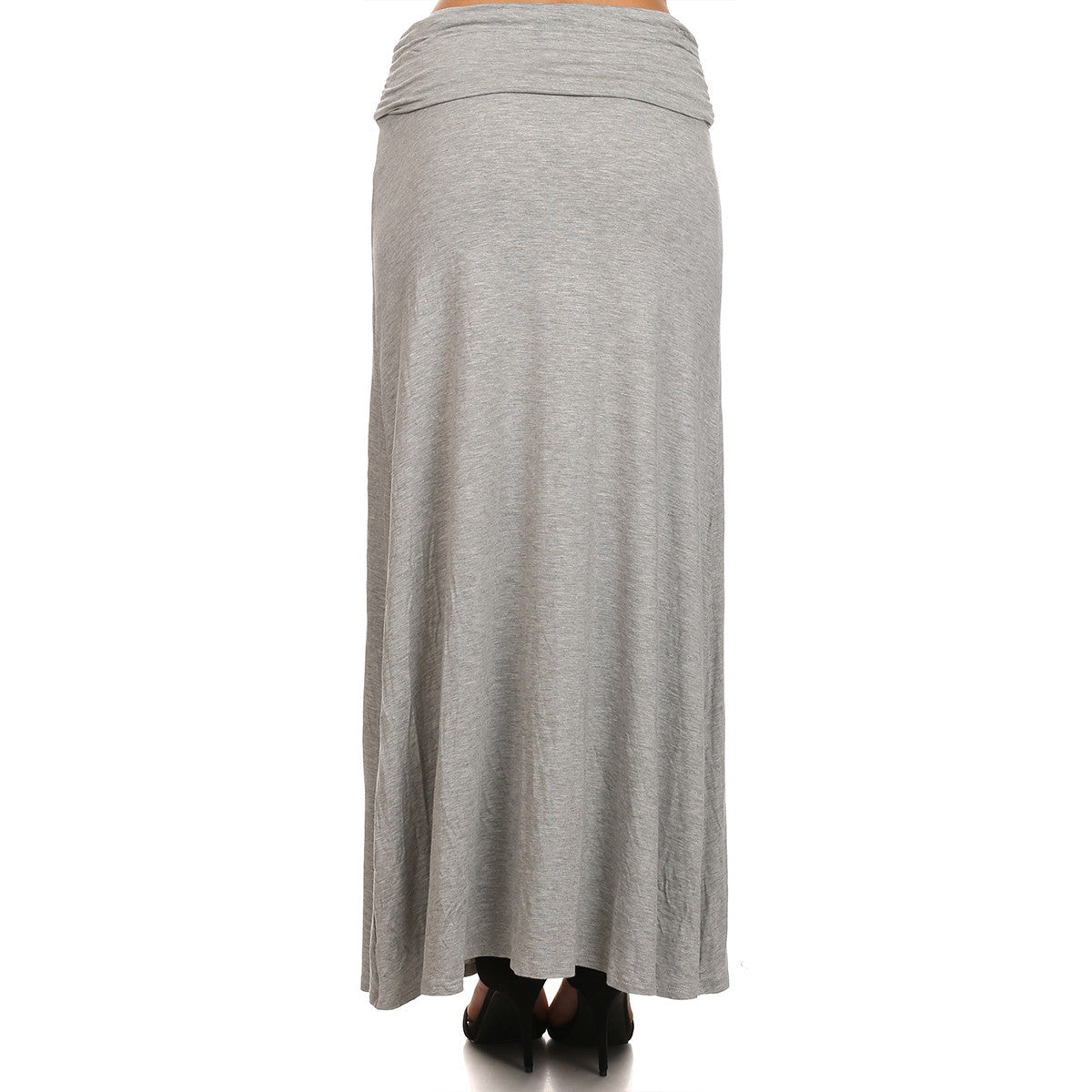 Shirred Waist Maxi Skirt