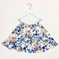 Floral Print Flair Skirt for Girls