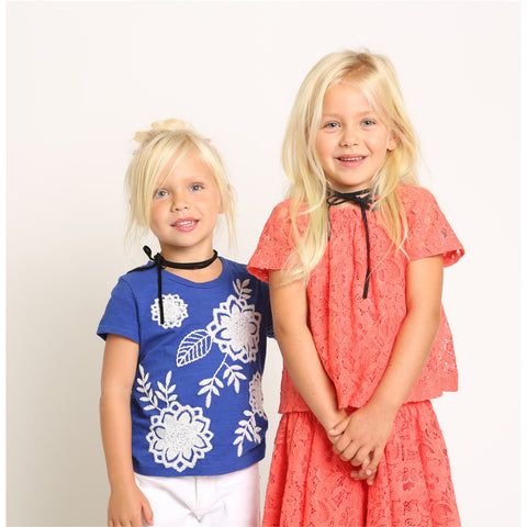 Lace Peasant Top for Girls