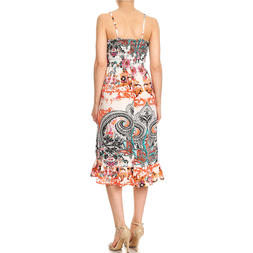Engineered Print Smock Dress