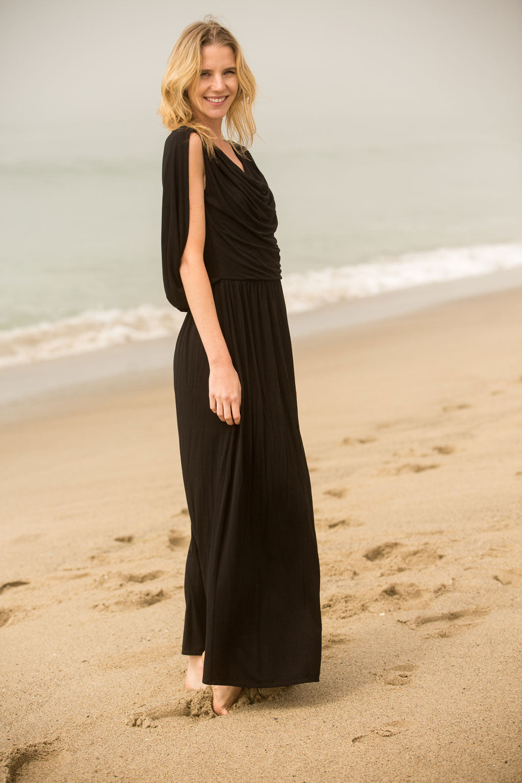 Draped Angel Wing Dress