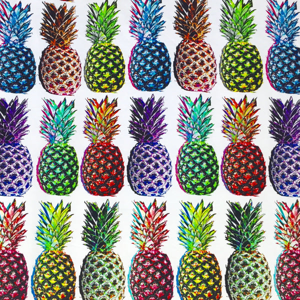 Pineapples organic digital cotton jersey (by the half metre)