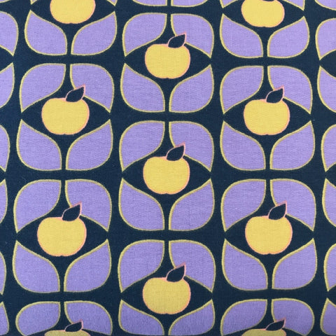 Sweat Apple Leaves cotton sweatshirting (by the half metre)
