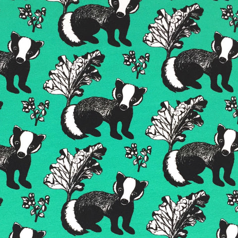 Badger Mint organic cotton jersey (by the half metre)