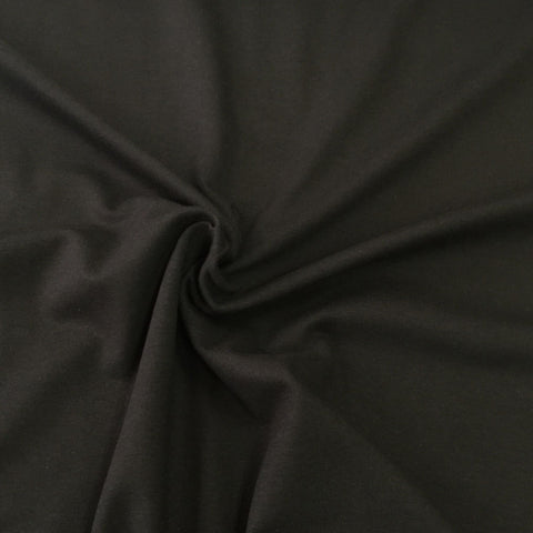 Black plain cotton jersey (by the half metre)