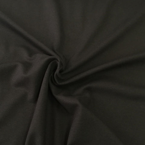 Black plain cotton sweatshirting (by the half metre)