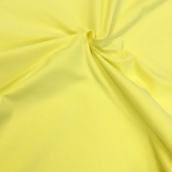 Blazing Yellow plain organic cotton jersey (by the half metre)