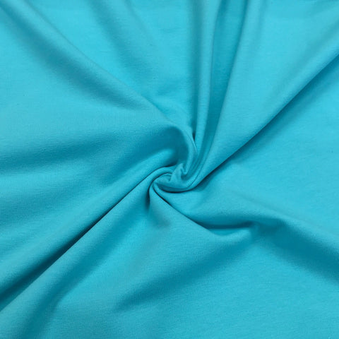 Blue Radiance plain organic cotton jersey (by the half metre)