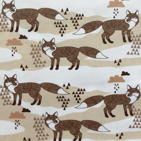 Cloudy Fox organic cotton jersey (by the half metre)