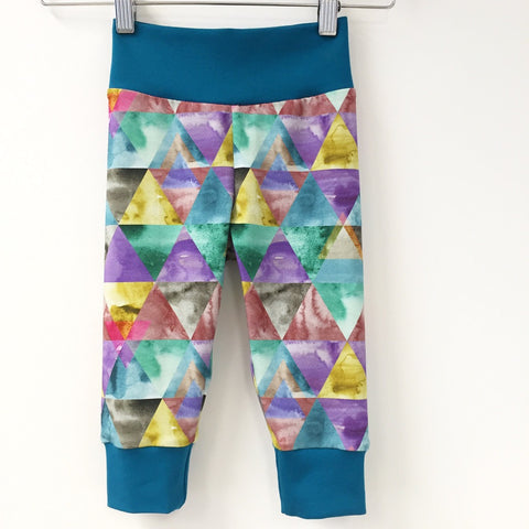 Digital triangles jersey slouchy trousers