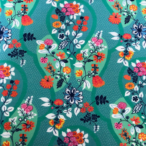 Flower Tendrils cotton jersey (by the half metre)