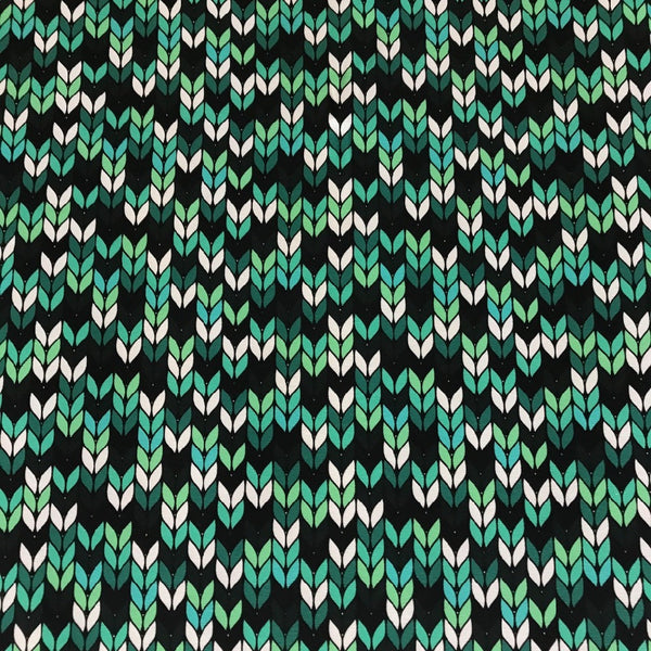 Granny Knitting mint organic cotton jersey (by the half metre)