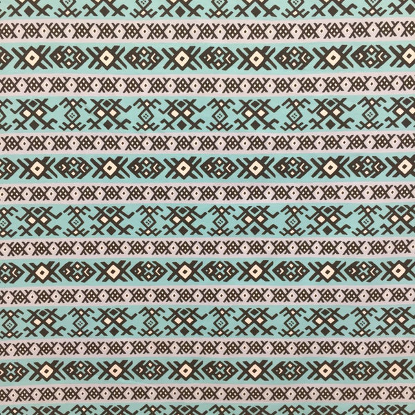 SALE Karelia ice blue organic cotton jersey (by the half metre)