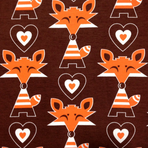 Karkkis Candy Fox brown cotton jersey (by the half metre)