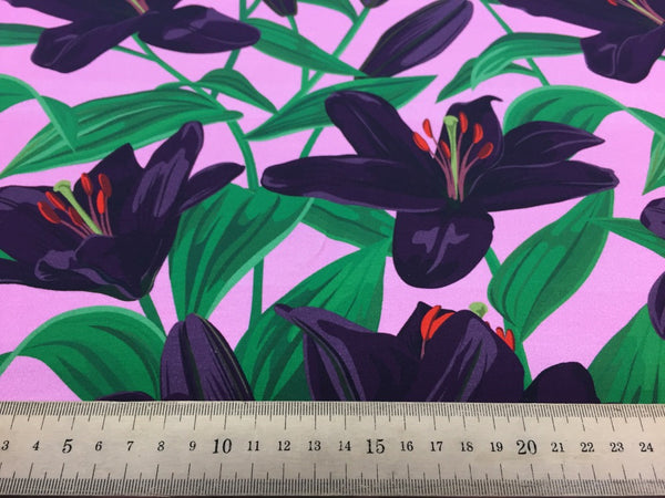 Lily Purple organic cotton jersey (by the half metre)