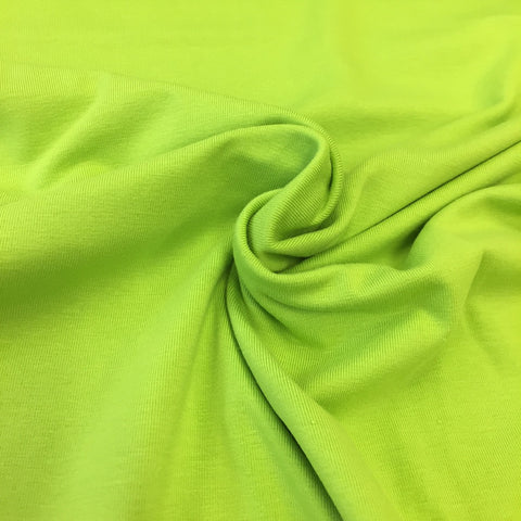 Lime green plain organic cotton jersey (by the half metre)